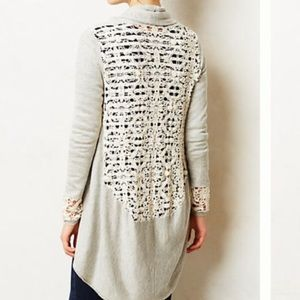 Yoon Anthropologie Lace Lengths Cardigan Small